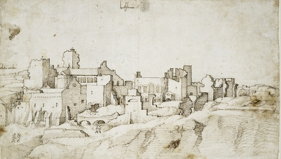 Pen drawing of Bethlehem by Jan van Scorel, 1520. (Photo:British Museum)