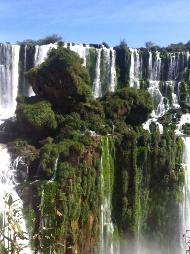 Iguazu, in a fraction of its glory.  Photos cannot capture the magnitude of the falls.  Iguazu Falls, Argentina.