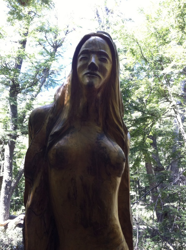 Elegance.  Bosque Tallado (carved forest).  El Bolson, Argentina.